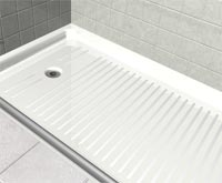 fiberglass shower pan ada handicapped shower base