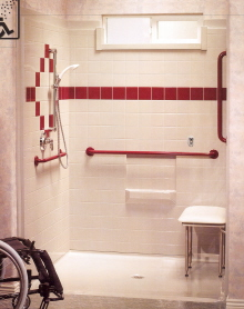 wheelchair accessible shower, shower pans and shower bases